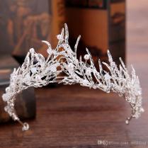 Vintage Gold Princess Tiaras Crowns Swarovski Pearls Crystal