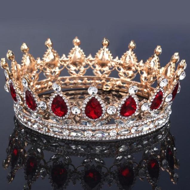 Bridal Wedding Jewelry Queen Crowns Tiaras Baroque Hair