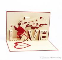 Greeting Card 3d Pop Up Cards Love Tree Heart Valentine Lover