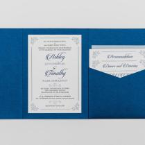 Royal Blue And Silver Wedding Invitations Including Astounding