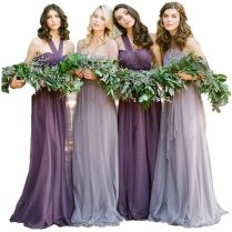 Rpg Novia Mismatched Pastel Purple And Lavender Bridesmaid Dresses