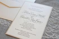 Shimmery Gold Formal Wedding Invitation