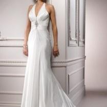Silver Halter Wedding Dress
