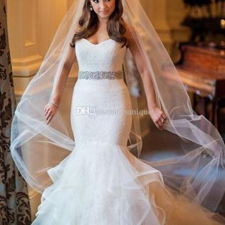 Sparkly Sweetheart Strapless Mermaid 2018 White Wedding Dresses