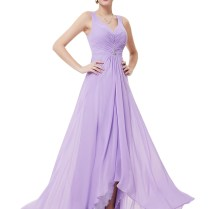 V Neck V Back Lavender Vintage Bridesmaid Dresses 2016,cap Sleeves