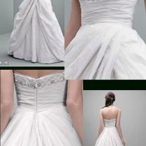 Vera Wang Bridal Ivory Taffeta Vw351237 Limited Edition Ball Gown