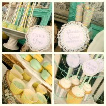Kara's Party Ideas Vintage Bridal Shower Planning Ideas Supplies