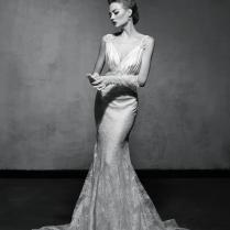 Vintage Glam Mermaid Wedding Dress By Lusan Mandongus 2