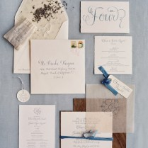 Wedding Invitation Tissue Paper Overlay Cards Pockets