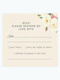 Wedding Invitation Response Cards – Cakebread