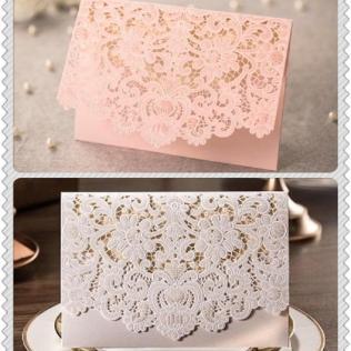 Wholesale Red And White Wedding Invitation Card Folding Korean