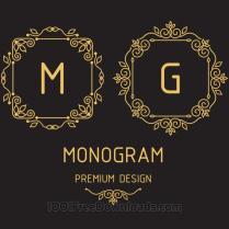Free Vectors Monogram Design Templates