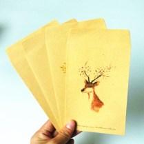 10pcs Lot Kawaii Forest Deer Series Kraft Paper Envelopes Nice