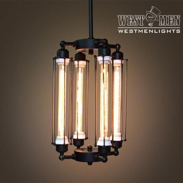 Buy A Custom Made Westmenlights Steampunk Black Iron Chandelier