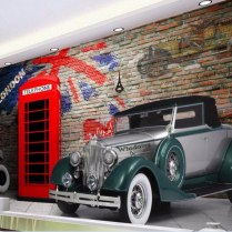 3d Wallpaper Custom Mural Photo The Old Car The Booth Painting 3d