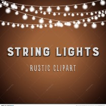 Rustic String Lights Background Illustration 76680244