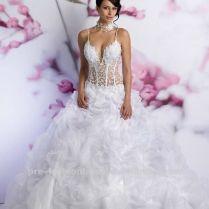 Seet Through Corset Wedding Dress