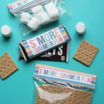 Bonfire Invitation Bonfire Party Smores Chocolate Bar
