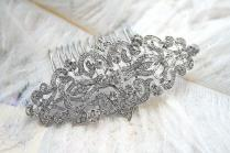 Art Deco Hair Comb Vintage Hair Comb Old Hollywood Hair Combs