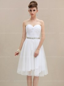 Simple Short Wedding Dress Bc639