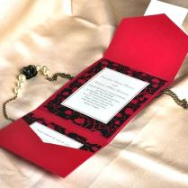 Black And Red Wedding Invitations Together With Modern Red And