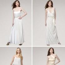 70s Style Halston Heritage Wedding Dresses