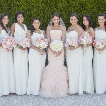 What Colour Bridesmaids Dresses With Pink Wedding Gown