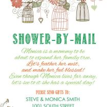 Rustic Shower By Mail Baby Shower Invitation, Printable In 2018