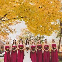 Cranberry Fall Deep Red Bridesmaid Dresses