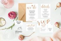 Editable Wedding Invitation Template Download, Printable Wedding