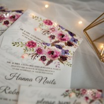 Jean's Bouquet – Pink And Purple Floral Uv Printed Wedding