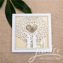 Fairytale Laser Cut Tree Wedding Invitation Card Wzl0014 [wzl0014