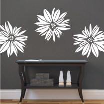 Exotic Flower Wall Decal & Floral Wall Art From Trendy Wall Designs