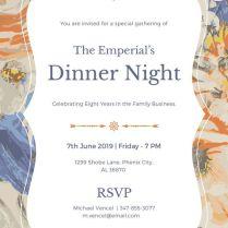 8 Dinner Invitation Card Templates