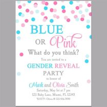 Free Gender Reveal Party Invitations Ba Gender Reveal Party Ideas