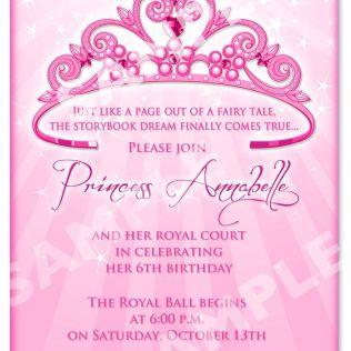 Free Princess Invitation Templates Fabulous Royal Themed Party