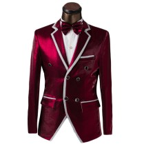 Buy Luxury Custom Men Double Breasted Suit Fashion Design Mens