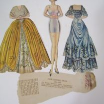 Danza Ballet Blog Vintage Paper Doll And 9 First Lady Ballroom