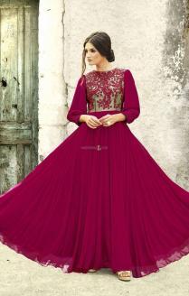 Buy Stylish Royal Designer Evening Gown For Wedding Reception