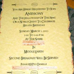 Hobbit Lord Of The Rings Birthday Hobbit Birthday To You