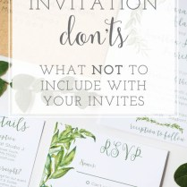 Information To Include On Wedding Invitation What Not Invitations