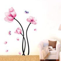 Interior Decoration Design Wallpaper Wall Mural Flower Wall Decals