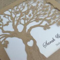 Laser Cut Invitation, Rustic Wedding Invitation, Laser Cut Tree