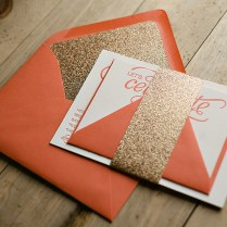 Nicole Gets The Glitter Treatment! Coral And Gold Glitter Wedding