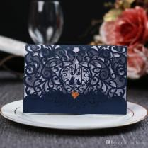 Luxurious Wedding Invitations High Quality Pearl Paper Laser Cut
