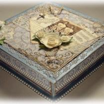 Blue Vintage Keepsake Box