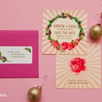 Andrew And Erica's Pink Christmas Wedding Design