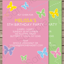 Printable Butterfly Party Invitation Template Pink Luxury Party