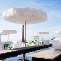 Frou Frou Parasol, Exotic Design In Raffia