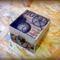 Retro Box, Treasure Box, Wooden Box, Decoupaged Box, Keepsake Box